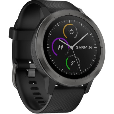 Garmin vivoactive 3 - Slate Bezel with Black Silicone Bands