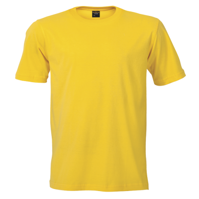 170G Barron Combed Cotton Crew Neck T-Shirt Yellow Size 3XL