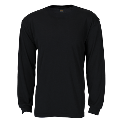 170G Barron Long Sleeve T-Shirt Black Size 5XL
