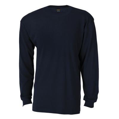 170G Barron Long Sleeve T-Shirt Navy Size 4XL