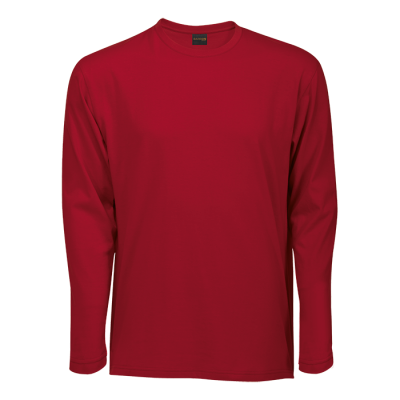 170G Barron Long Sleeve T-Shirt Red Size Small