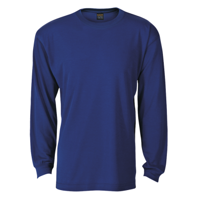 170G Barron Long Sleeve T-Shirt Royal Size 2XL