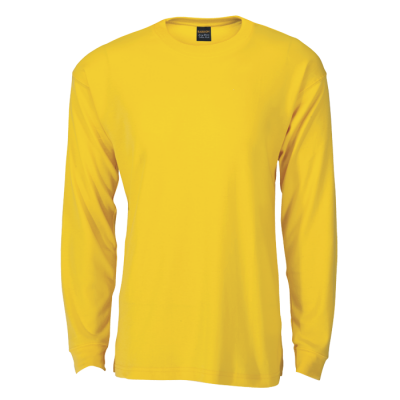 170G Barron Long Sleeve T-Shirt Yellow Size 4XL