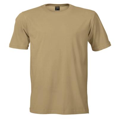 145G Barron Crew Neck T-Shirt Khaki Size Small