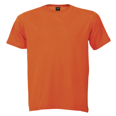 145G Barron Crew Neck T-Shirt Orange Size 3XL