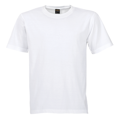 145G Barron Crew Neck T-Shirt White Size Large