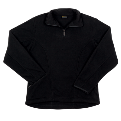 Ladies Essential Micro Fleece Black Size Medium