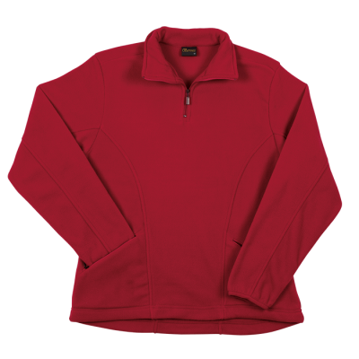 Ladies Essential Micro Fleece Red Size 5XL