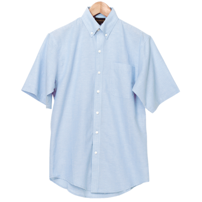 Mens Chambray Lounge Short Sleeve Sky Blue Size 2XL