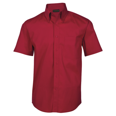 Mens Brushed Cotton Twill Lounge Short Sleeve Red Size 5XL