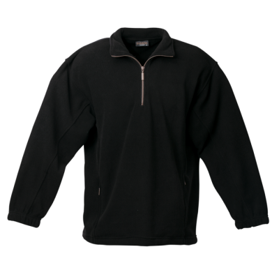 Mens Essential Micro Fleece Black Size 4XL