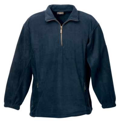 Mens Essential Micro Fleece Navy Size 4XL