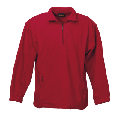 Mens Essential Micro Fleece Red Size 5XL