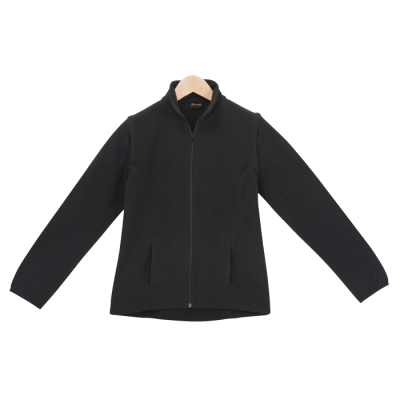 Ladies Ultra Micro Fleece (With Zip Off Sleeves) Black Size 3XL