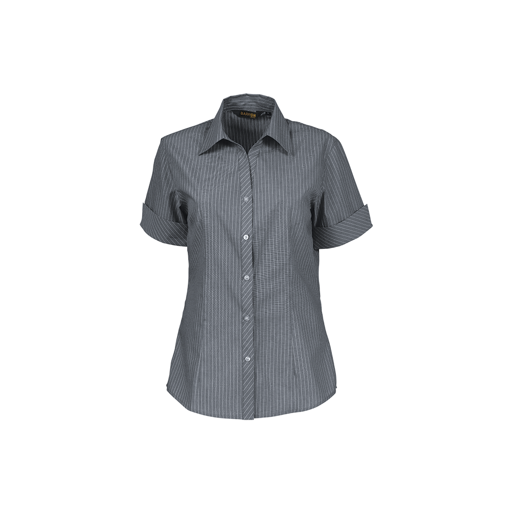 efc52e6a2ac Ladies Quest Short Sleeve Blouse Grey/White MED
