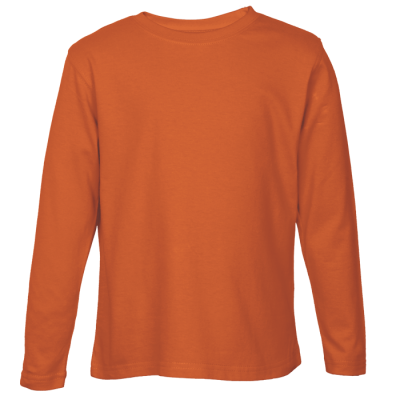 145G Long Sleeve T-Shirt Orange Size 4XL
