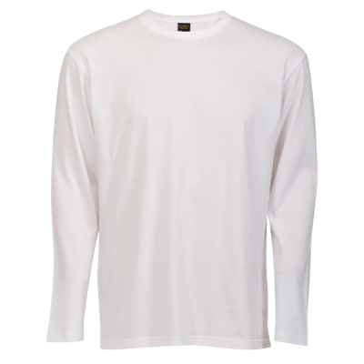 145G Long Sleeve T-Shirt White Size Small