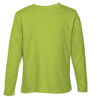145G Kiddies Long Sleeve T-Shirt Lime Size 13 to 14