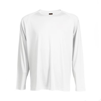 135G Long Sleeve Polyester T-Shirt White Size 4XL
