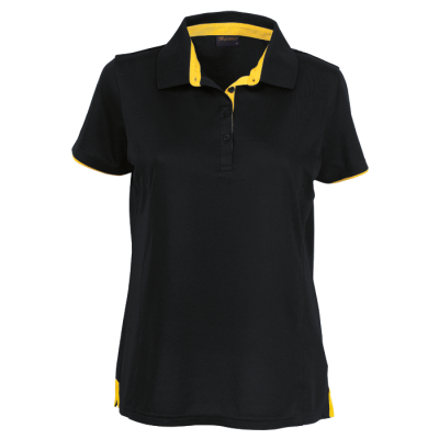 Ladies Baxter Golfer Black/Yellow Size 4XL