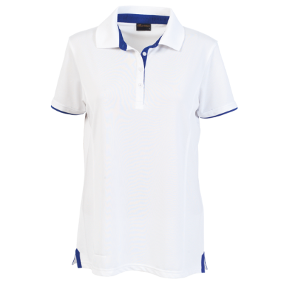 Ladies Baxter Golfer White/Royal Size 4XL
