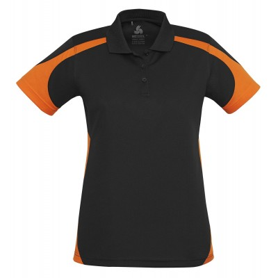 Talon Ladies Golf Shirt Orange Size 2XL
