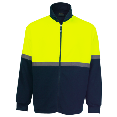 Quarry Fleece Navy/Safety Yellow Size XS
