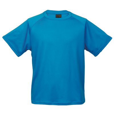 135G Kiddies Polyester T-Shirt Blue Size 9 to 10