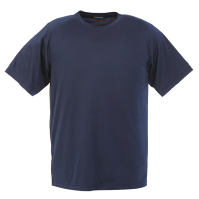 135G Kiddies Polyester T-Shirt Navy Size 9 to 10