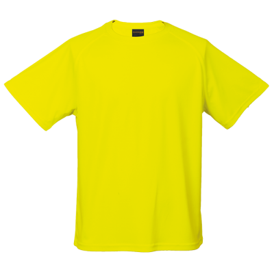 135g Kiddies Polyester T-Shirt Size 5 to 6 Safety Yellow