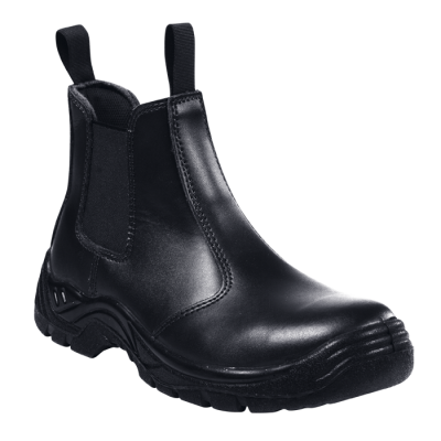 Barron Chelsea Safety Boot Black Size 5