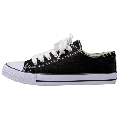 Barron Canvas Lace Up Shoe Black/White Size 7