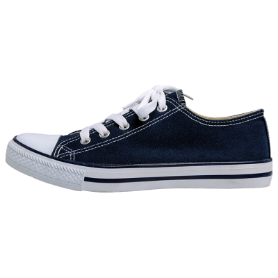 Barron Canvas Lace Up Shoe Navy/White Size 10