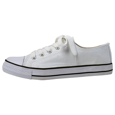 Barron Canvas Lace Up Shoe White/White Size 2