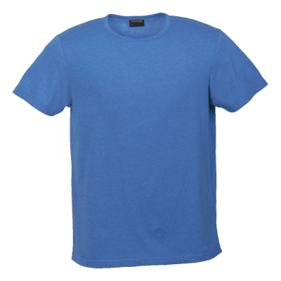 Mens Melange Crew Neck T-Shirt Blue Melange Size 3XL