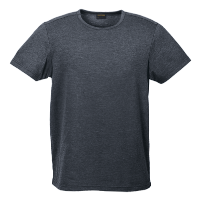 Mens Melange Crew Neck T-Shirt Charcoal Melange Size 4XL