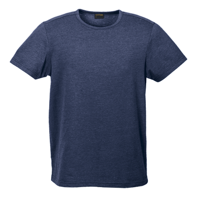 Mens Melange Crew Neck T-Shirt Navy Melange Size 5XL