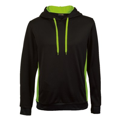 Track Hooded Sweater Black/Lime Size Small