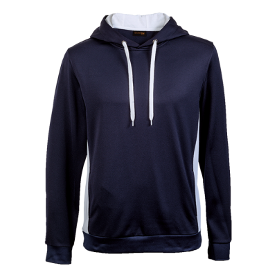 Track Hooded Sweater Navy/White Size Small