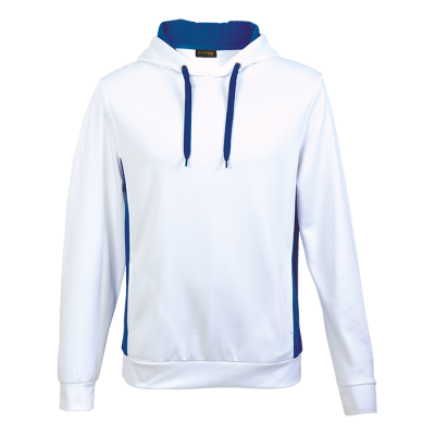 Track Hooded Sweater White/Royal Size 2XL