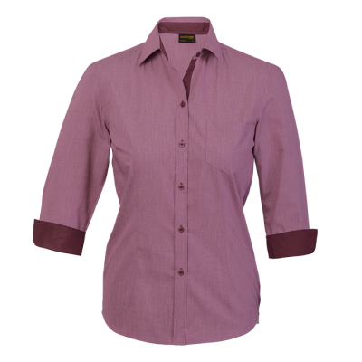 Ladies Madison Blouse Wine Red Size 2XL