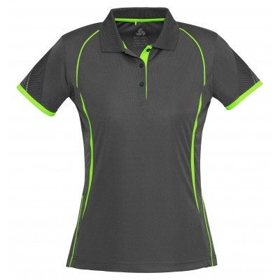 Ladies Razor Golf Shirt Grey with Lime Size Medium