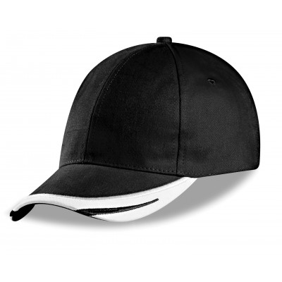 Us Basic Bronx 6 Panel Cap Black