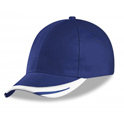 Us Basic Bronx 6 Panel Cap Blue