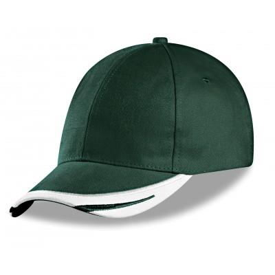 Us Basic Bronx 6 Panel Cap Green