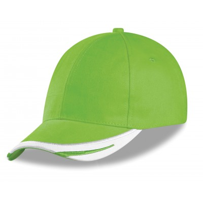 Us Basic Bronx 6 Panel Cap Lime