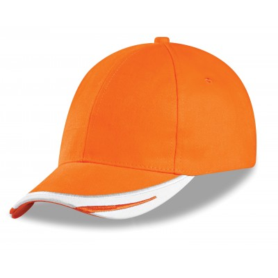 Us Basic Bronx 6 Panel Cap Orange