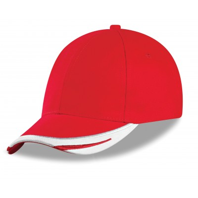 Us Basic Bronx 6 Panel Cap Red