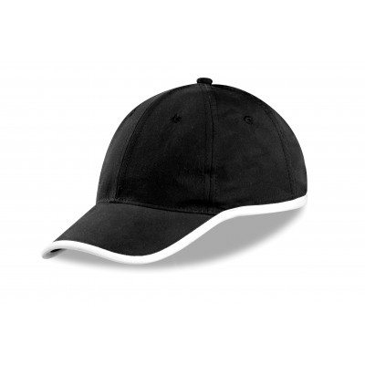 Us Basic New Jersey 6 Panel Cap Black
