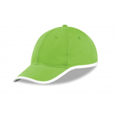 Us Basic New Jersey 6 Panel Cap Lime